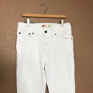 Levi's 510 Skinny White Jeans